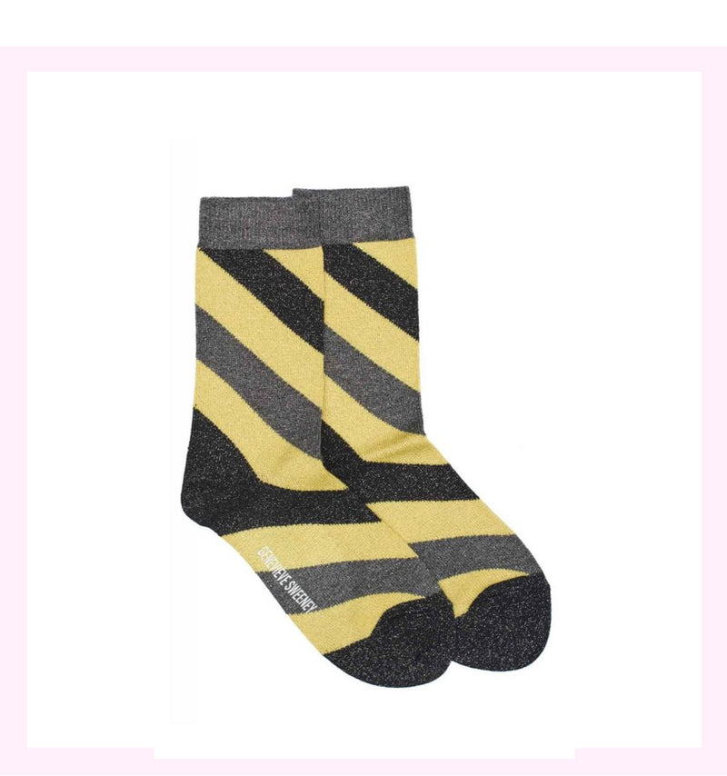 SERORA YELLOW STRIPE SOCKS