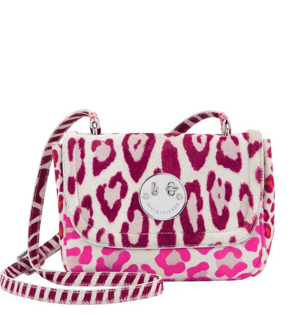 Hill & Friends Pink Leopard Haircalf Happy Bag
