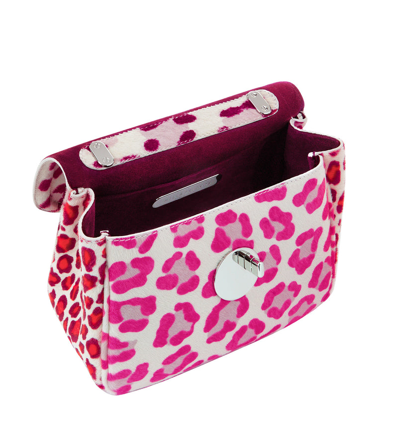 Hill & Friends Pink Leopard Haircalf Happy Bag Interior