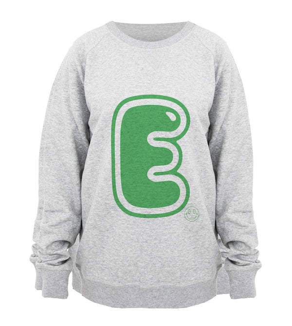Hill & Friends Alphabet Printed Sweatshirt in Green