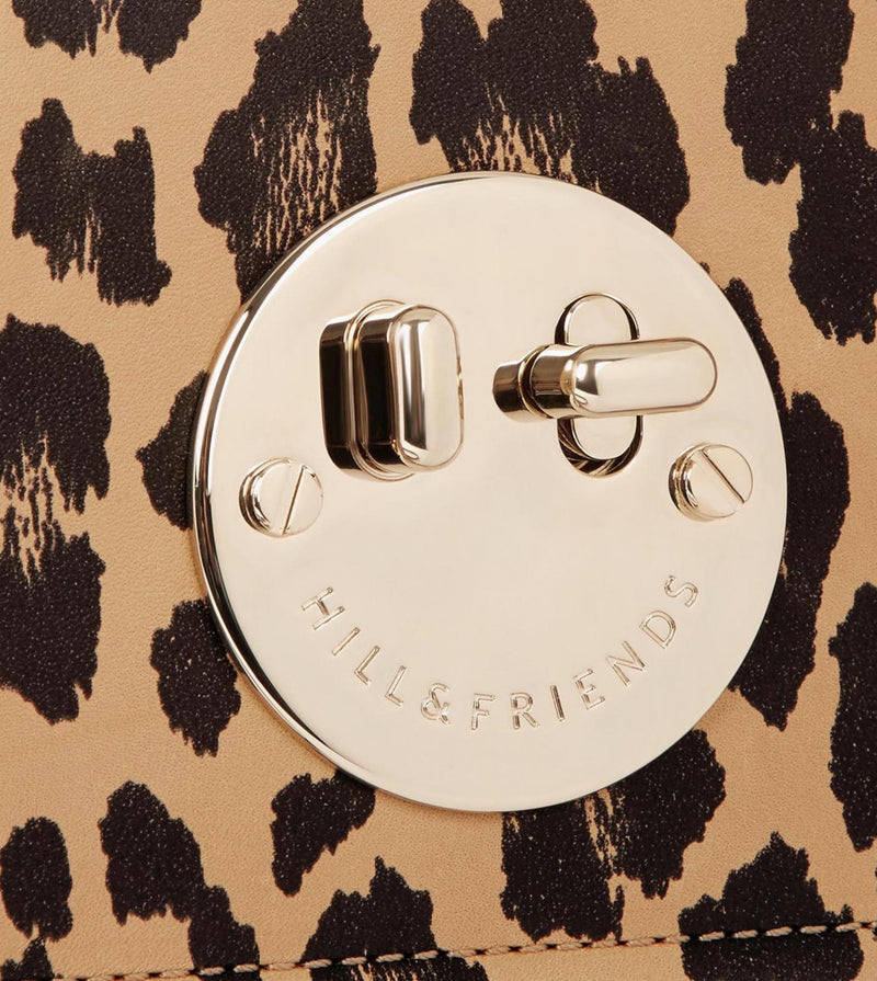 Hill & Friends Leopard Print Bag Lock Detail