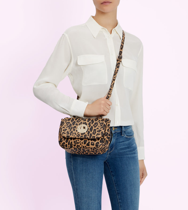 Leopard Print Cross-Body Happy Bag