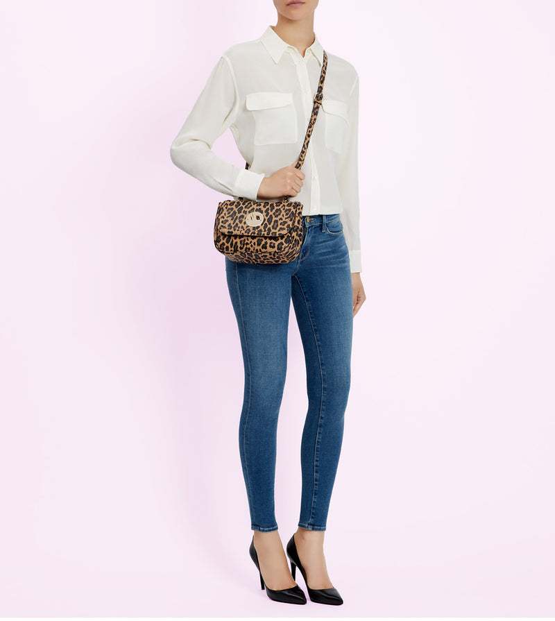 Hill & Friends Leopard Print Bag Lock Cross-Body Model