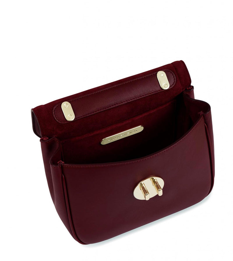 Hill & Friends Oxblood Happy Bag Interior