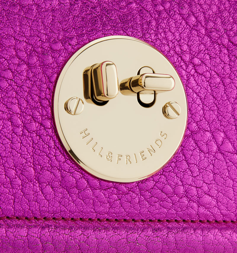 Hill & Friends Pink Metallic Happy Bag Detail