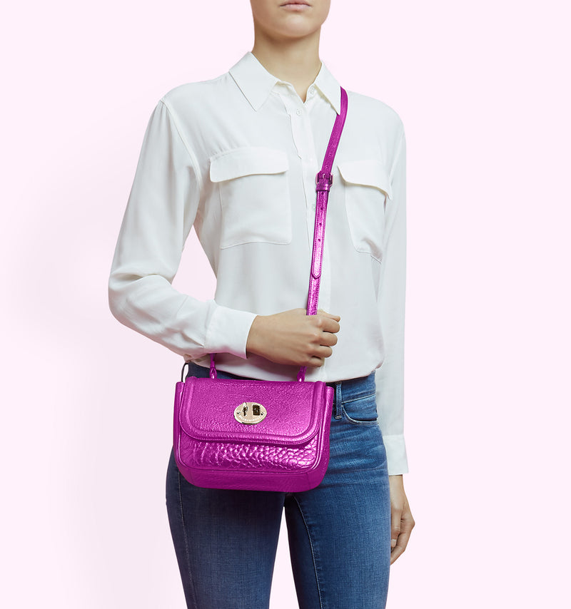 Hill & Friends Pink Metallic Happy Bag
