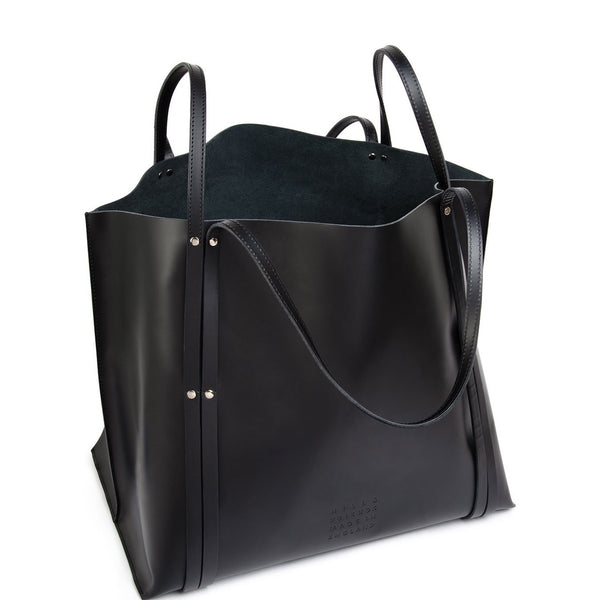 The Hepworth Black Leather Tote Bag - Hill and Friends