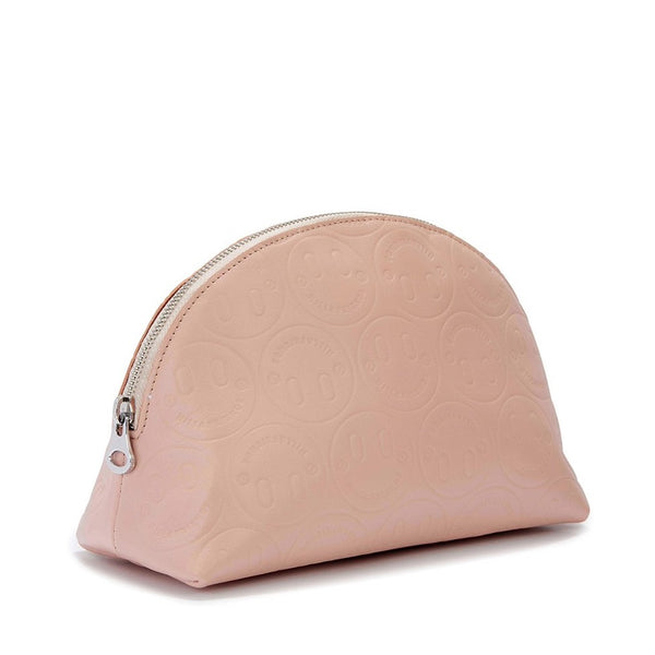Large Happy Embossed Cosmetics Bag - Hill and Friends
