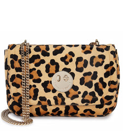 Leopard Print Haircalf Cross-Body Chain Bag - Hill and Friends