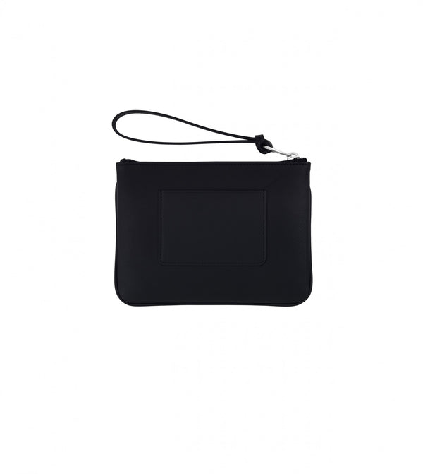 Hill & Friends Black Leather Friendly Padlock Pouch Back