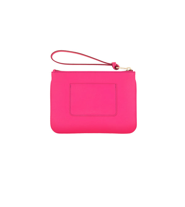 Hill & Friends Pink Leather Friendly Padlock Pouch Back