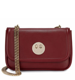 Oxblood Leather Cross-Body Chain Bag - Hill and Friends