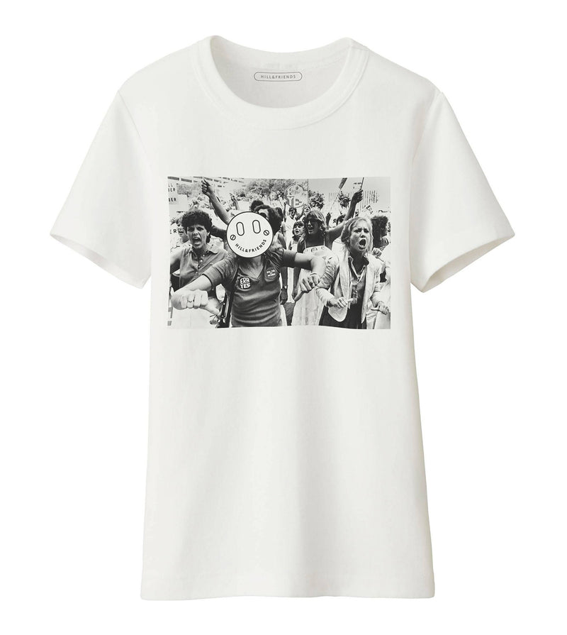 Protest Print Crew-Neck T-Shirt