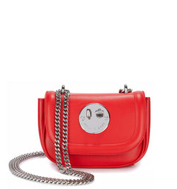 Tweency Chain Bag - Red Happy Tweency Mini Chain Bag with Silver Tone 'Winky' Twist Lock - Hill and Friends