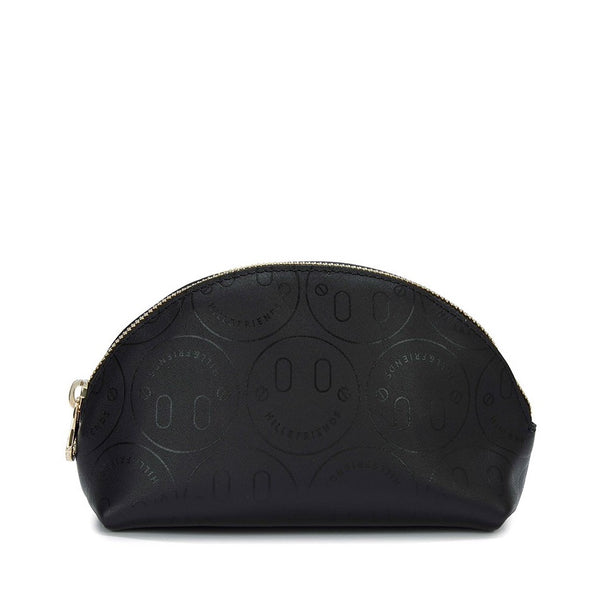 Small Happy Embossed Cosmetics Bag - Hill and Friends