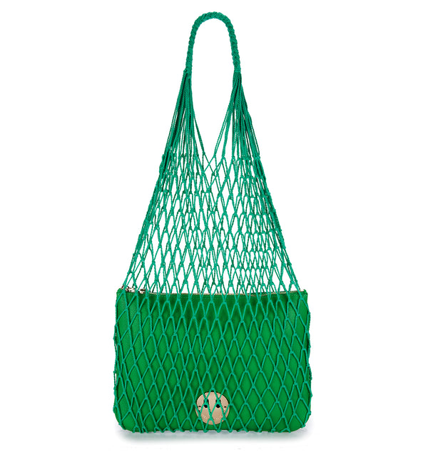 STRING SHOPPER WITH HAPPY POUCH