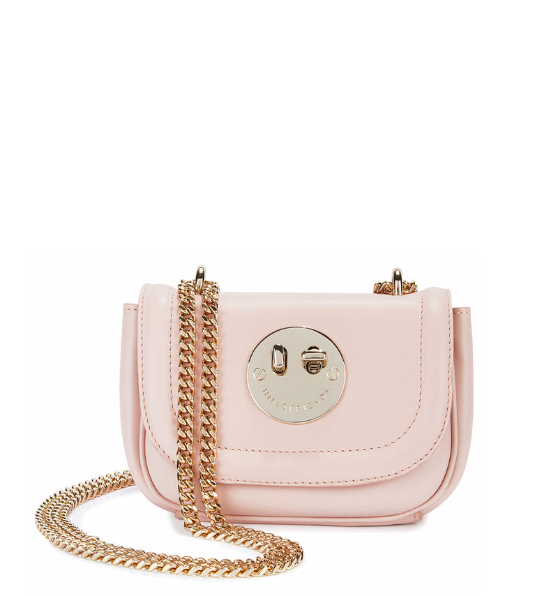 Tweency Chain Bag - Blush Pink Happy Tweency Mini Chain Bag with Silver Tone 'Winky' Twist Lock - Hill and Friends