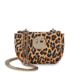 Happy Tweency Bag - Leopard Printed Leather Tweency Chain Mini Bag - Hill and Friends
