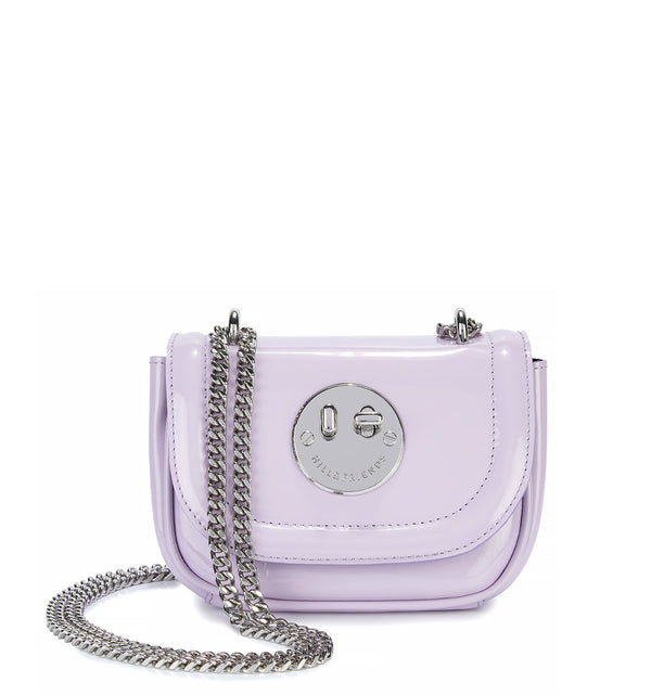 Lilac Patent Tweency Chain Mini Bag - Smiley Lock Tweency