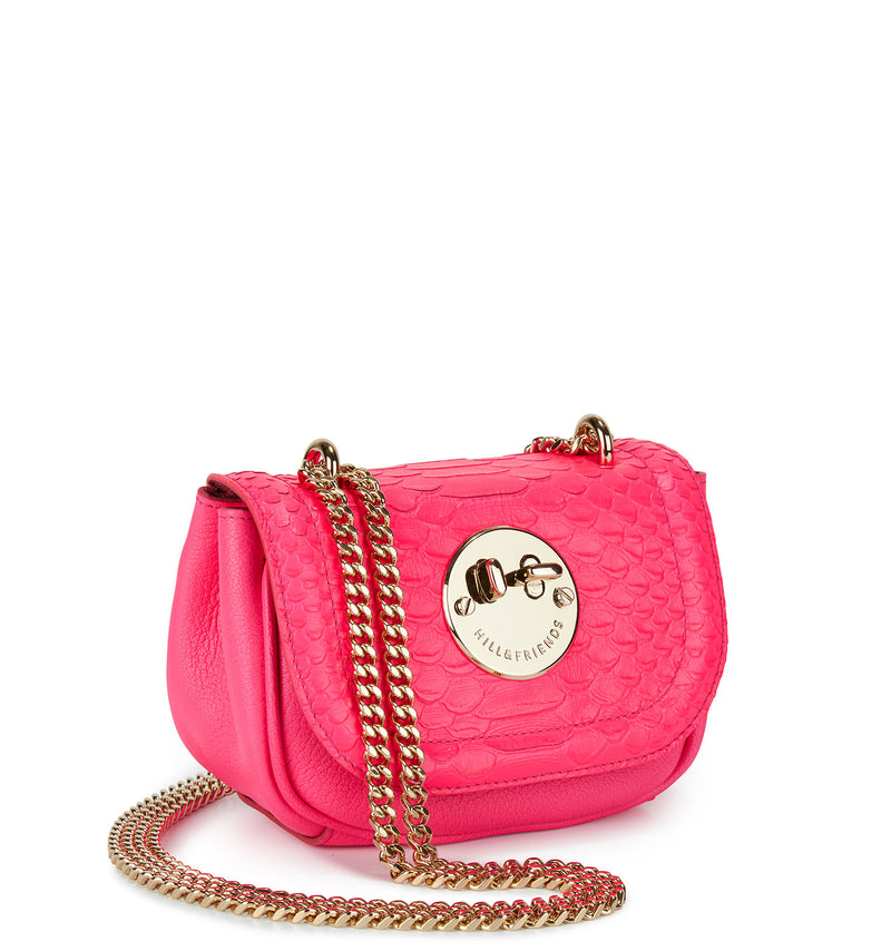 Tweency Chain Bag - Pink Python Embossed Happy Tweency Mini Chain Bag - Hill and Friends