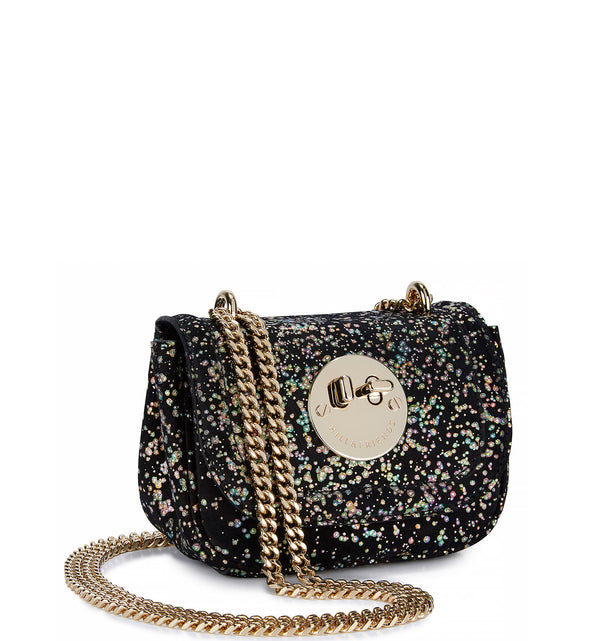 Tweency Chain Bag - Metallic Rainbow Spot Suede Happy Tweency Mini Chain Bag - Hill and Friends