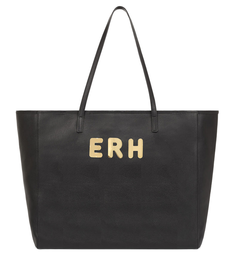 Hill & Friends Customisable Monogrammed Tote Bag in Black