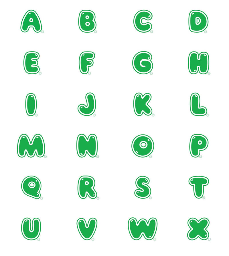 Hill & Friends Green Printed Alphabet