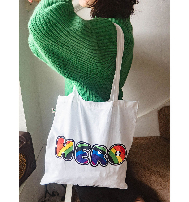 Hero Cotton Tote Bag in Support of NHS Charities Together - Hill and Friends