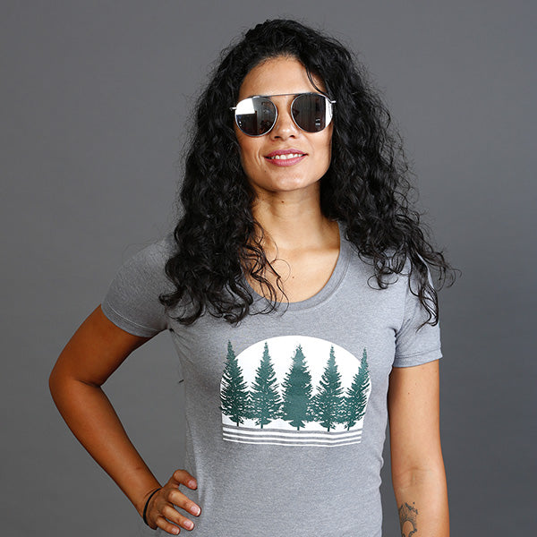 Boreal Forest Foret boreale T-shirts T-shirt Top Organic Bio cotton coton PLB Design Women Femme Girls