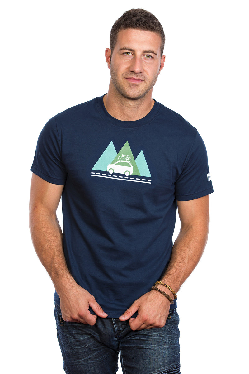 Outdoor Plein air camping T-shirt Velo Bicycle Car Adventure Aventure
