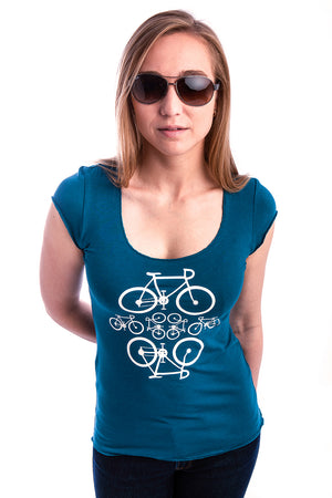 Locally made womens bamboo shirt. Comfortable Woman Fashion - Teal