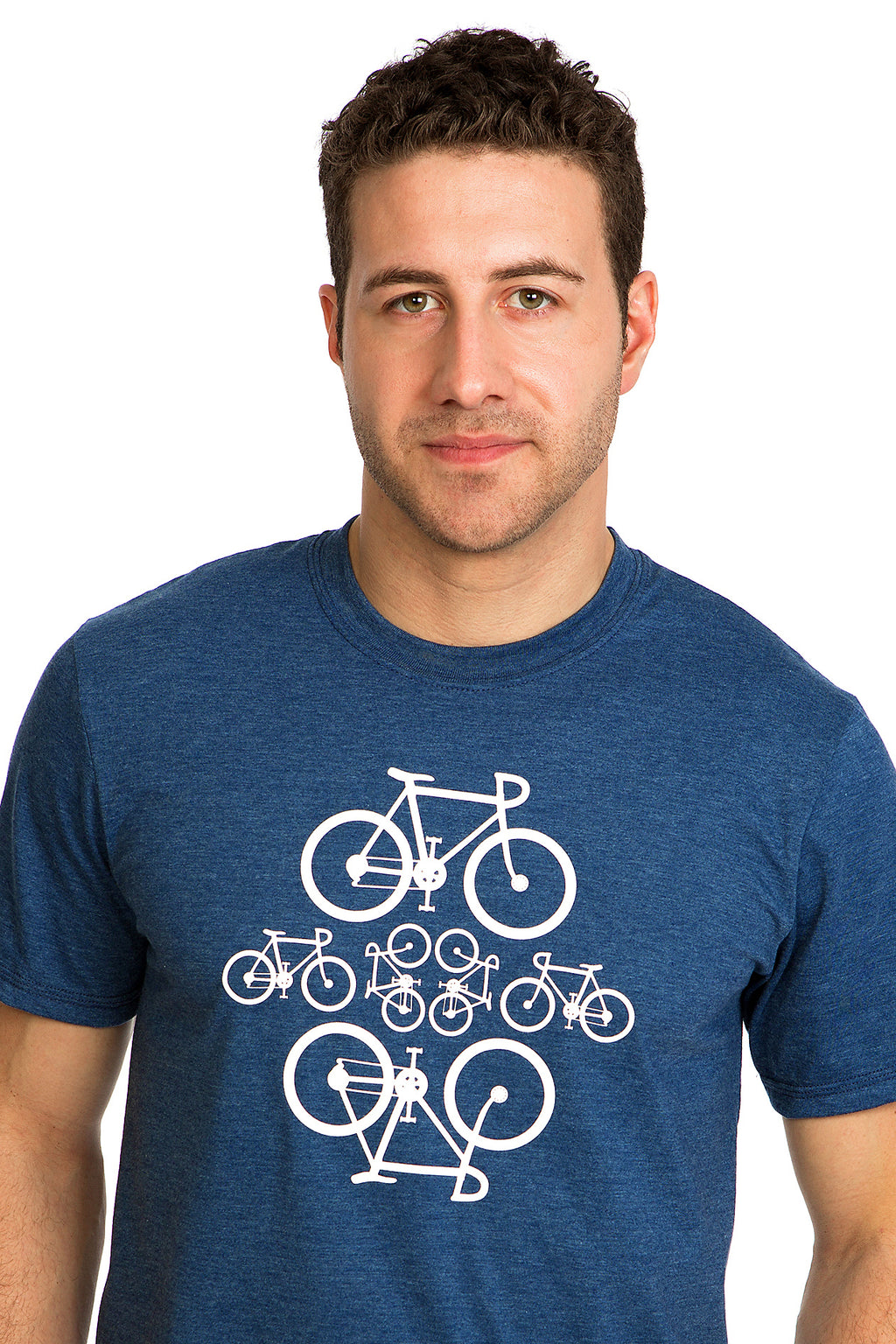 Bicycles Velo T-shirt Tshirt Tee Homme Mens Blue Bicycle bixi