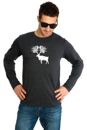 Caribou T-shirt Long sleeve Soft Comfortable Cotton