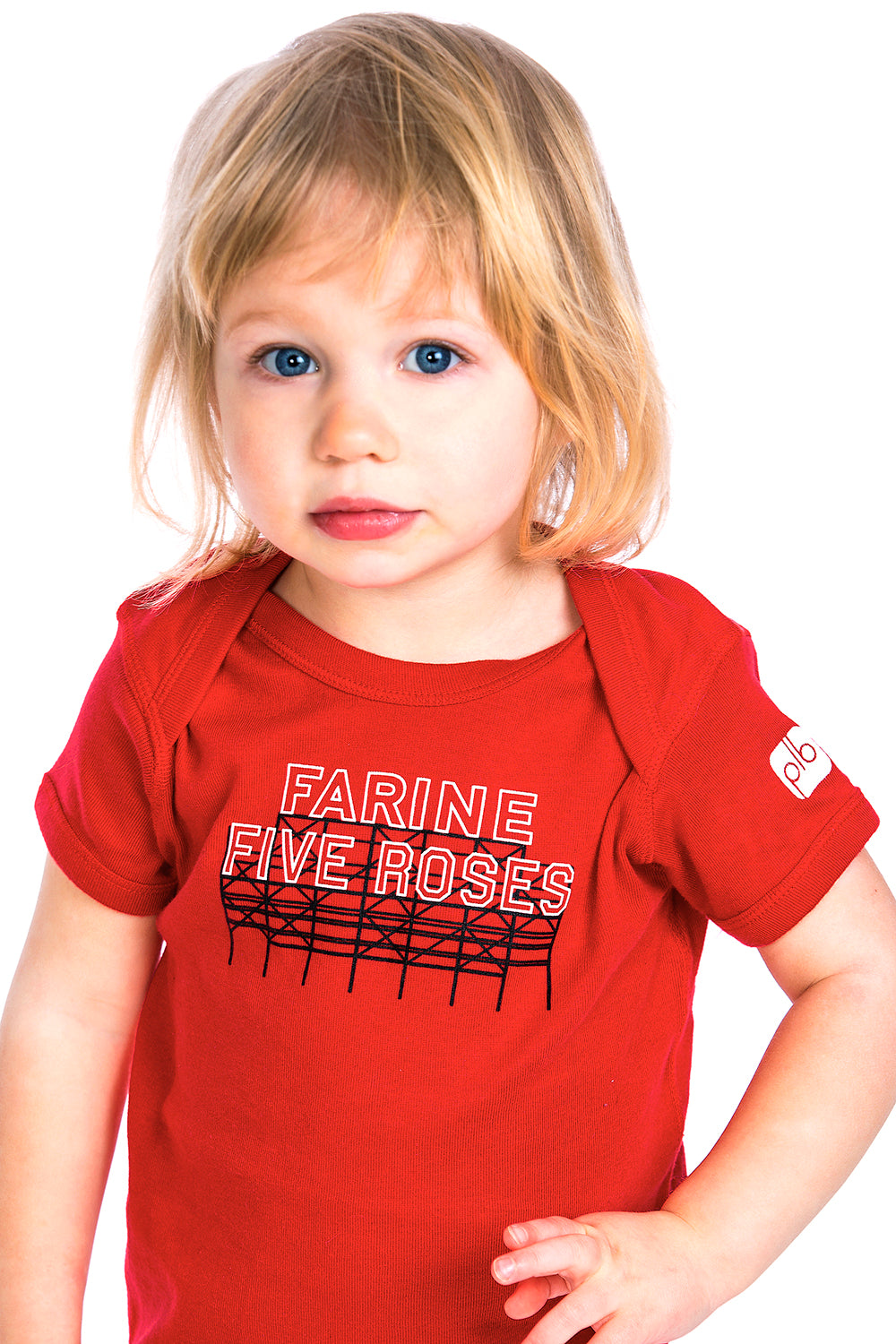 Farine Five Roses Baby Onesie Red Rouge