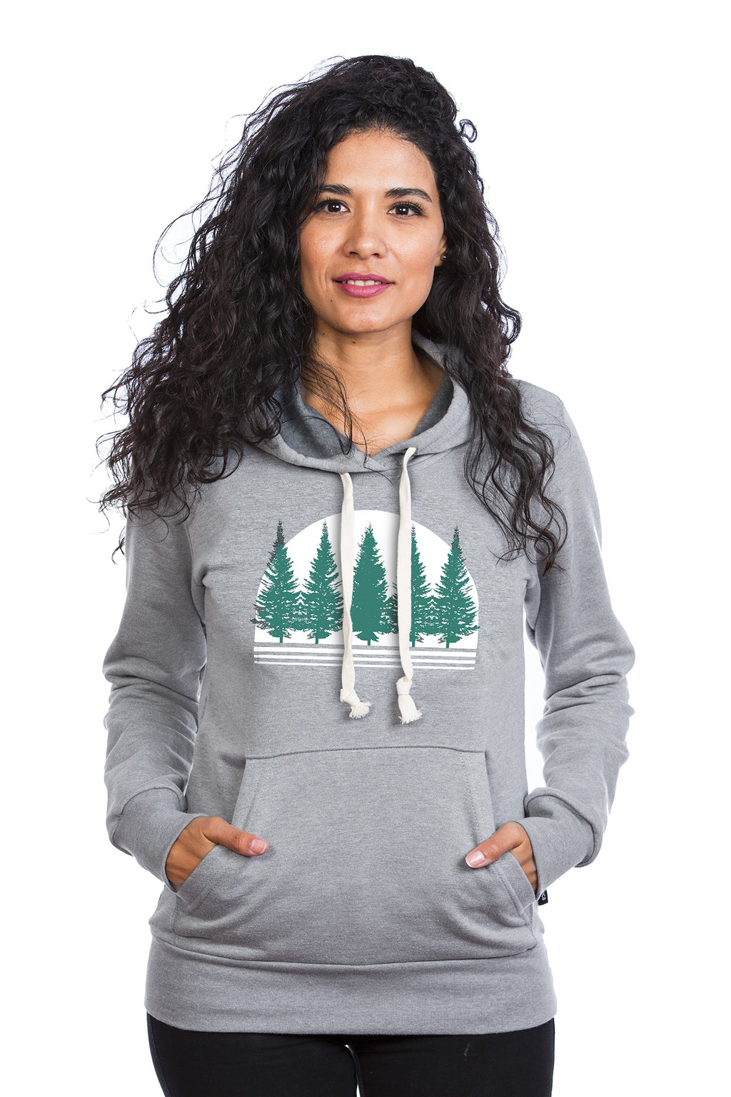Boreal Forest Hoodie Hoody Women femme kangourou coton ouate PLB fashion mode quebec local comfortable