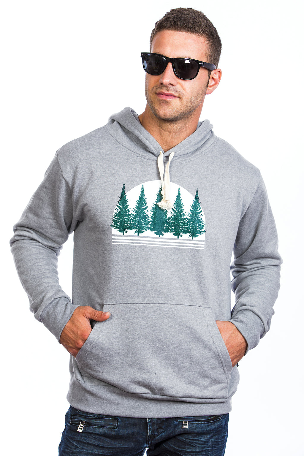Foret Boreal coton ouate hoodie hoodies canada boreal forest