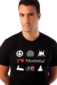 MTL JTM J'aime Montreal Black Organic Cotton PLB Biosphere Bicycle Bike