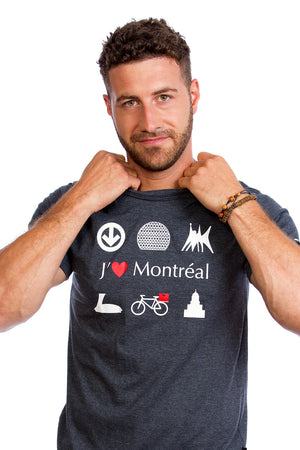 I Love Montreal Gray Organic PLB Biosphere Bicycle Bike YUL design