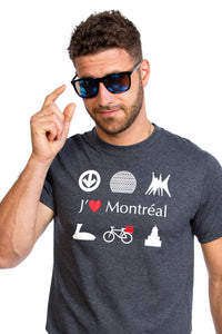 I Love Montreal Gray Organic PLB Biosphere Bicycle Bike MTL JTM Cool