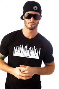 New York City Tee shirt Mens T-shirt Nueva York cotton black white