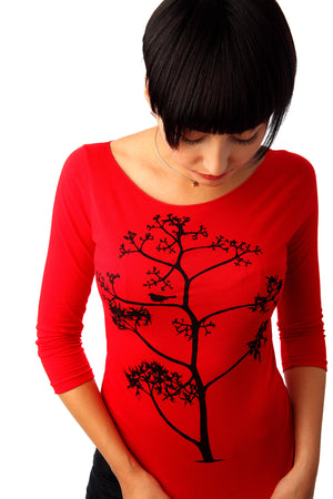 Bird & Tree - 3/4 Sleeve T-shirt