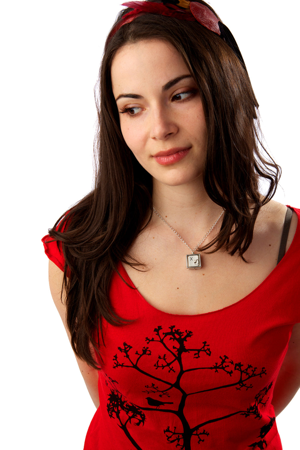 Red Bamboo Sustainable Tshirts Bird and the Tree by PLB