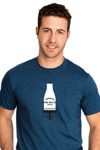 T-shirt for Mens with Guaranteed Pure Milk bottle bouteille T-shirt Blue Bleu in Montreal, Quebec