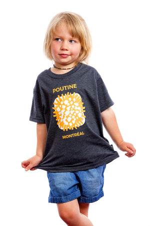 Kids Cool Poutine Organic Shirt Best Graphic Tee Tshirt | Montreal, Canada