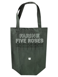 Farine Five Roses tote bag green cotton Montreal