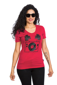 Women's Tropical Turntable T-shirt - Organic cotton