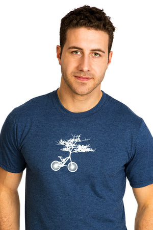 Velos Arbre Tree Cycle T-shirt PLB bicycle velo bici bleu organic men