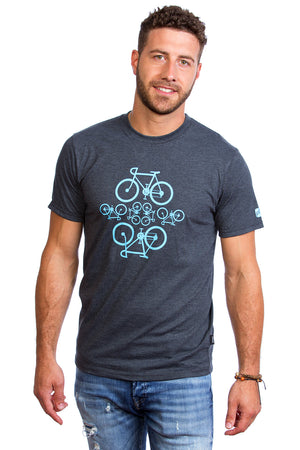 bicycle mens t-shirt gray gris cool design plb