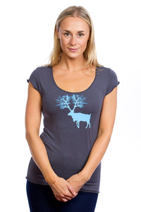 Caribou Womens Gray T-shirt