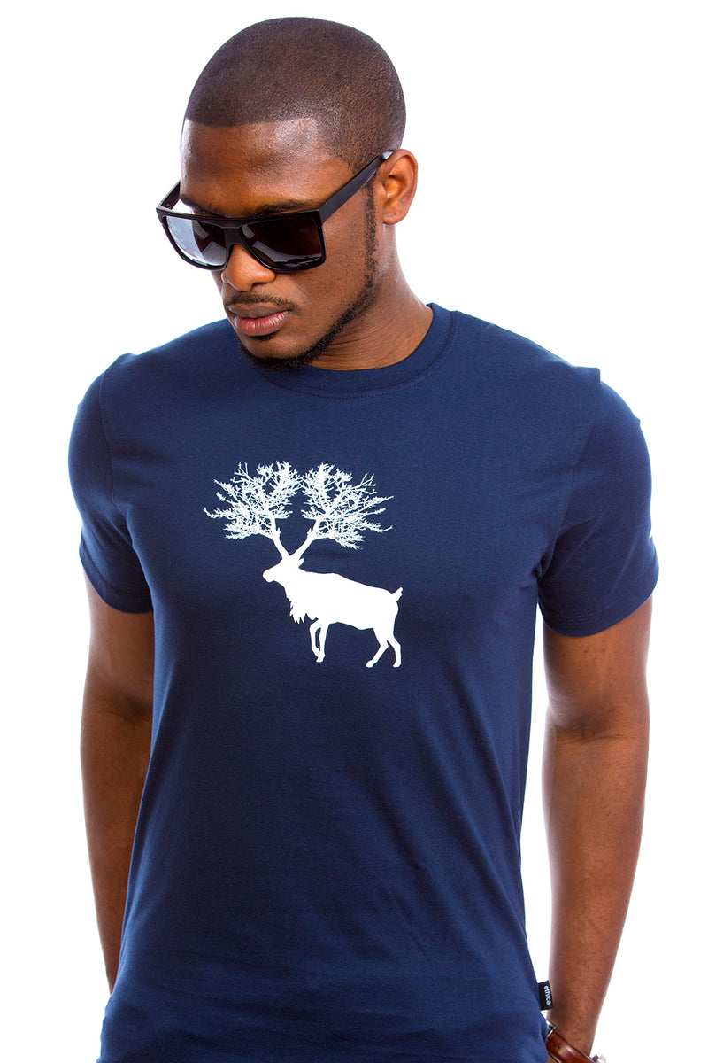 Caribou T-Shirts for Men Navy